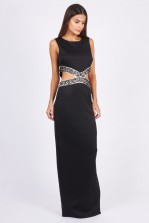 TFNC Mina Black Maxi Dress