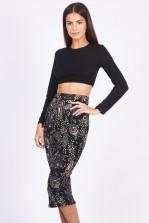 TFNC Rika Paisley Midi Skirt