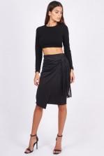 TFNC Noreen Black Midi Skirt