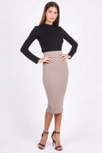TFNC Rika Taupe Midi Skirt