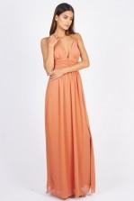TFNC Ashley Orange Maxi Dress