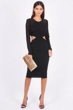 TFNC Barbara Black Midi Dress