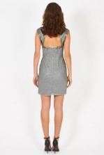 Lace & Beads Malta Grey Embellished Dress