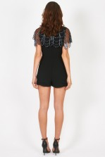 Lace & Beads Julie Black Playsuit