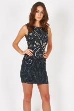 Lace & Beads Jasmine Navy Embellished Dress