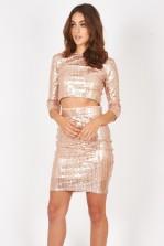 TFNC Paris Deco Pink Skirt