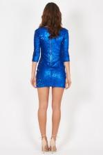 TFNC Paris Glitter Blue Sequin Dress