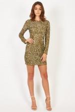 Lace & Beads Catherine Olive Embellished Dress