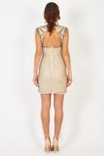 Lace & Beads Malta Nude Embellished Dress
