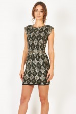 Lace & Beads London Black Embellished Dress