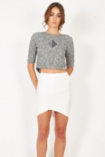 Lace & Beads Pauline Grey Top