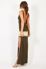 TFNC Fatima Khaki Maxi Dress