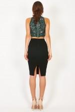 Lace & Beads Malaina Green Top