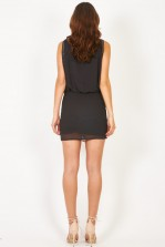 Lace & Beads Sharon Angela Grey Embellished Dress