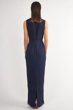 TFNC Banji Navy Maxi Embellished Dress
