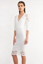 TFNC Mariette White Bodycon Dress