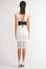 TFNC Gaella White Bodycon Dress