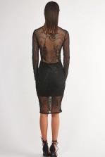 TFNC Swanie Black Bodycon Dress