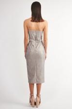 TFNC Halo Grey Lace Midi Dress
