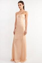 TFNC Gaynor Nude Sequin Maxi Dress