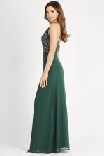 Lace & Beads Basia Green Maxi Dress