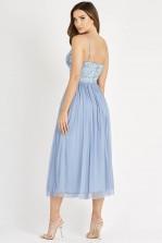 Lace & Beads Irina Blue Midi Dress
