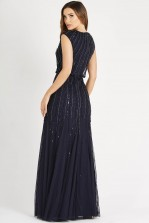 Lace & Beads Maje Navy Maxi Dress