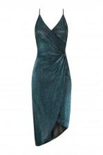 WalG Low Back Glitter Blue Midi Dress