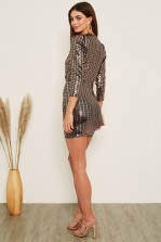 TFNC Chany Rose Gold Mini Dress