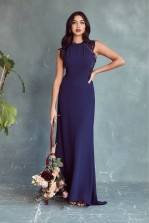 TFNC Ineka Navy Maxi Dress