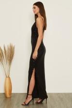 Skirt & Stiletto Valentina Black Sequin Maxi Dress