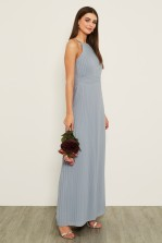 TFNC Serene Blue Grey Maxi Dress