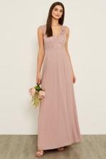 TFNC Shannon Pale Mauve Maxi Dress