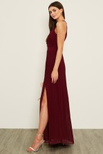 TFNC Prague Burgundy Maxi Dress