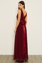 TFNC Kily Burgundy Maxi Dress