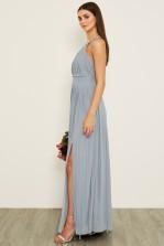 TFNC Prague Blue Grey Maxi Dress