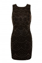 Lace & Beads Kathleen Embellished Black Mini Dress