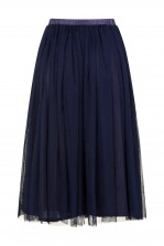 Lace & Beads Val Navy Skirt