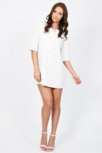 TFNC Carly White Dress