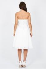 TFNC Debutante White Midi Dress