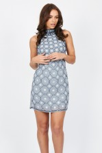 TFNC Priscilla Grey Embellished Dress