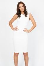 TFNC Sibila Cream Midi Dress