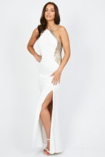 TFNC Sofia White Sequin Maxi Dress