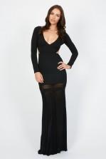 TFNC Wendy Black Maxi Dress