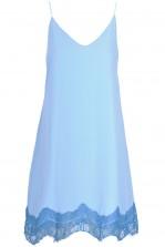 TFNC Blue Lace Trim Cami Dress
