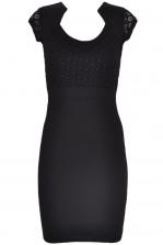 TFNC Daria Black Bodycon Midi Dress