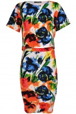 TFNC Jane Floral Print Crop Top