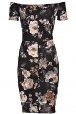 TFNC Jane Winter Floral Off Shoulder Midi Dress