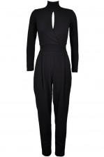 TFNC Safo Black High Neck Jumpsuit