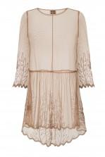 Lace & Beads Sada Sheer Taupe Dress